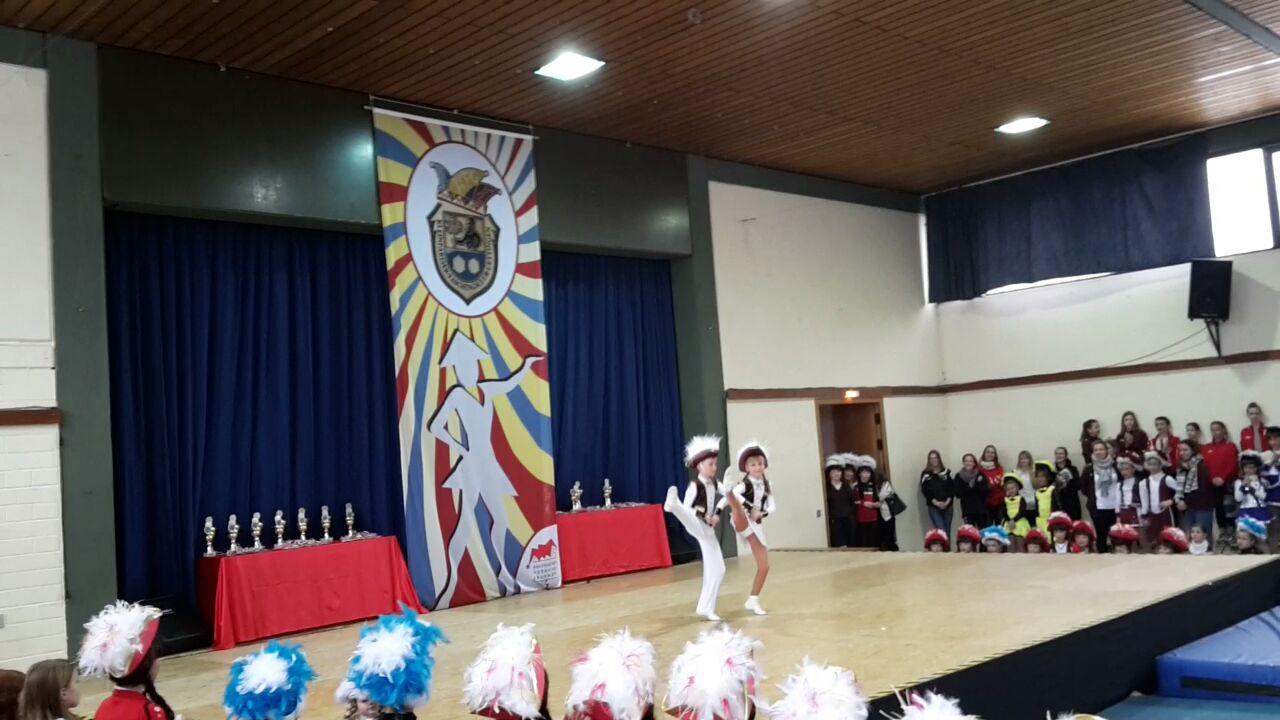 Unser Jugend-Tanzpaar beim Jugendtanzturnier des KFC Uettingen 2018. Foto: Stephan Gibardt