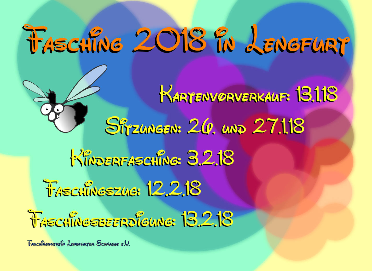 Schnagge Lengfurt Plakat 2017/18 groß